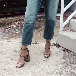 Nordstrom BP Chunky Metallic Heels